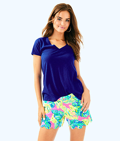 """5"""" Buttercup Stretch Twill Short, Pink Sunset Local Flavor, large"""