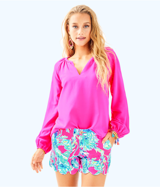 """5"""" Buttercup Stretch Twill Short, Raz Berry Lobsters In Love, large"""