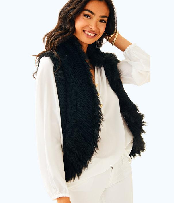 Torini Sweater Vest, Onyx, large