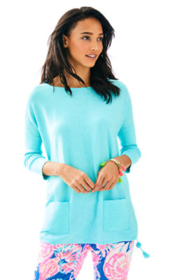 Elba Sweater, Heathered Seasalt Blue, large