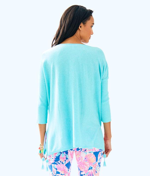Elba Sweater, Heathered Seasalt Blue, large