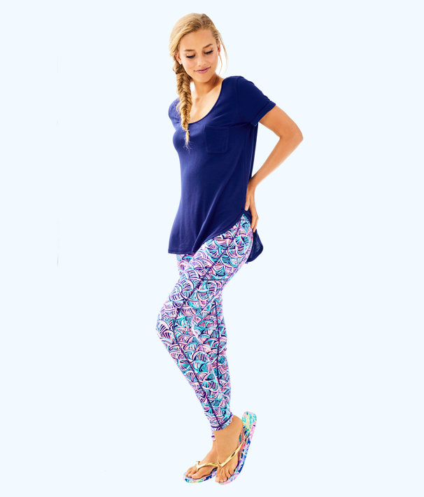"UPF 50+ Luxletic 26"" Weekender Legging, Bright Navy Neptunes Net, large"
