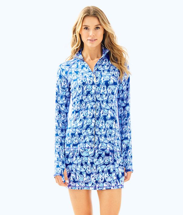Luxletic Serena Jacket, Ikat Blue Get Trunky, large
