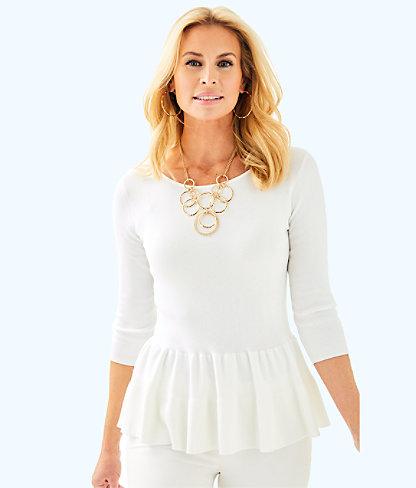 Celene Sweater, Resort White, large