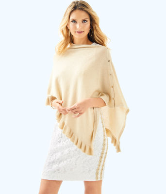 Valiente Wrap, Heathered Sand Dune Metallic, large 0