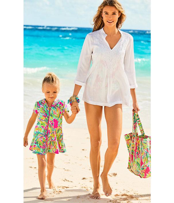 Sunbathers Foldable Beach Tote Bag, Multi Shady Lady, large