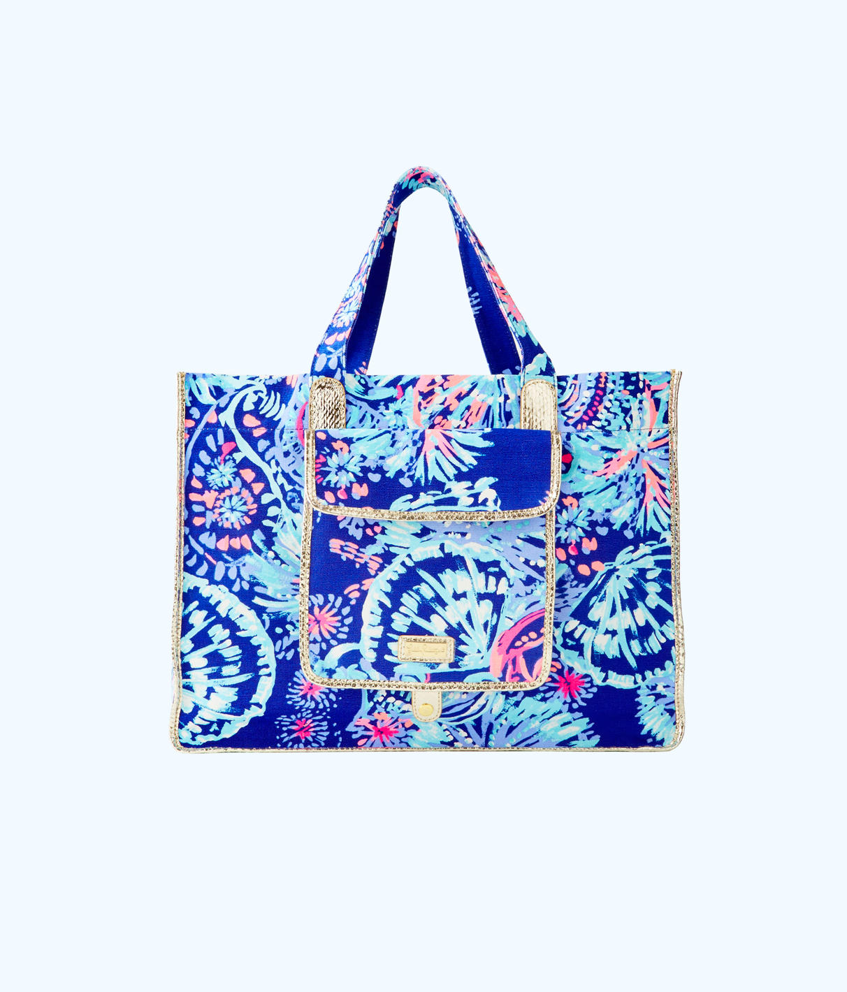 Lilly Pulitzer Lilly Pulitzer Sunbathers Foldable Beach Tote Bag