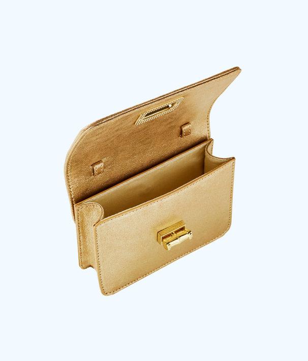 Ibiza Interchangeable Crossbody, Gold Metallic, large