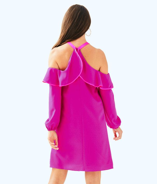 Abrielle Dress, Berry Sangria, large