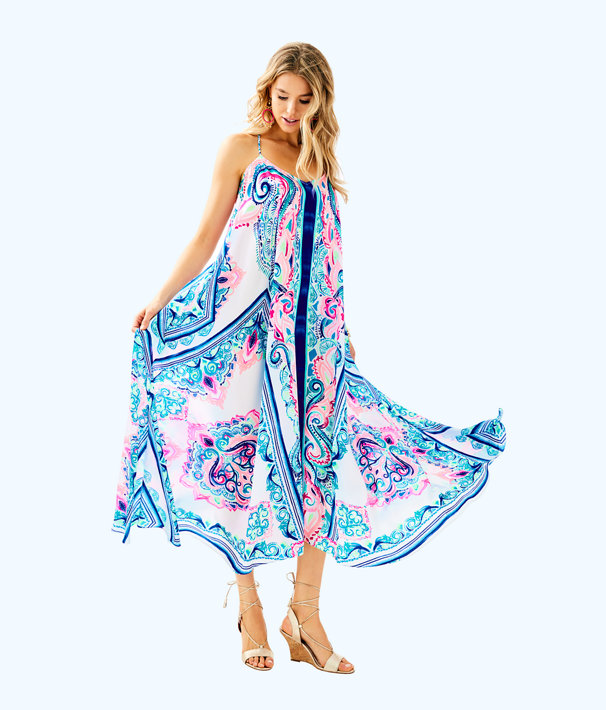 Juna Maxi Dress, Multi Surf Sayulita Engineered Maxi Front, large