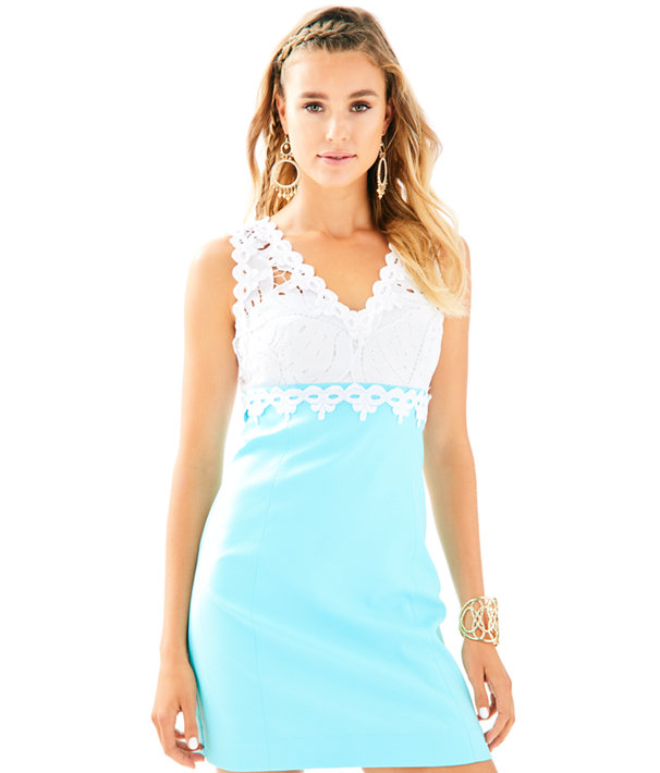Sandi Stretch Shift Dress, Seasalt Blue, large