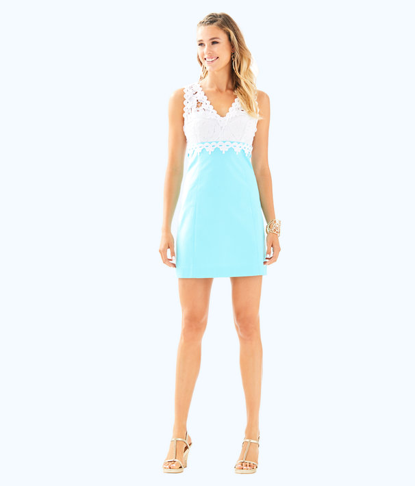 Sandi Stretch Shift Dress, Seasalt Blue, large