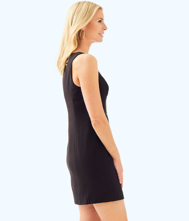 Gabby Shift Dress, Black, large