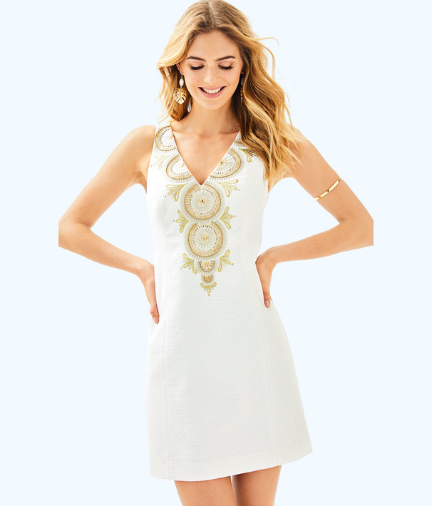 Gabby Shift Dress, Resort White, large