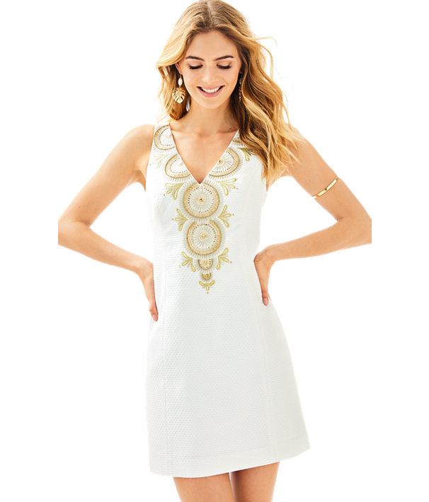 Gabby Shift Dress, Resort White, large