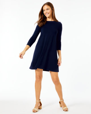 Ophelia Swing Dress, Midnight Navy, large 3