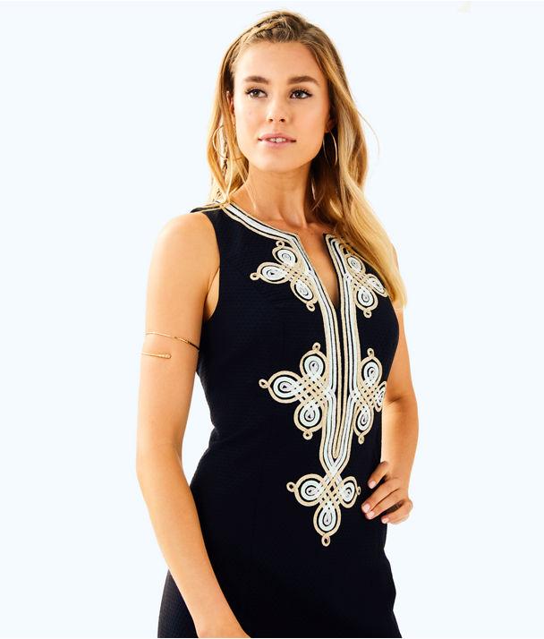 Mila Shift Dress, Black, large