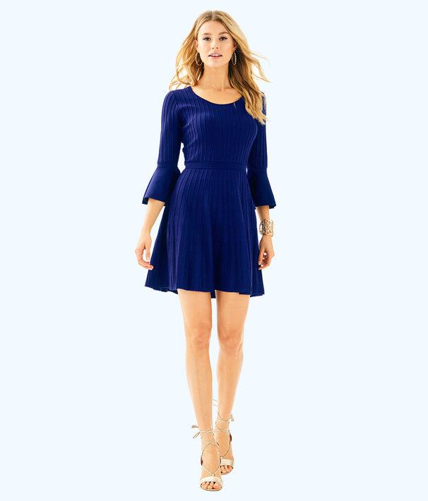 Brandi Dress, High Tide Navy, large