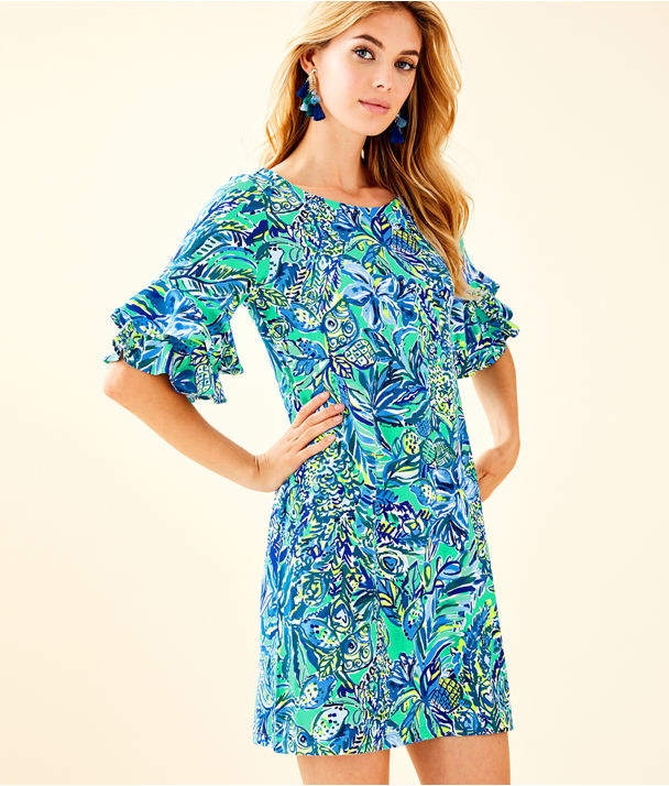 Lula Dress, Bennet Blue Sneak A Beak, large