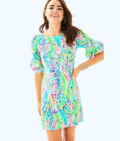 Lula Dress, Multi Catch The Wave, large
