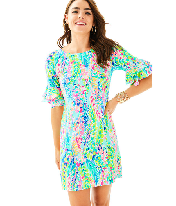 Lula Dress, Multi Catch The Wave, large