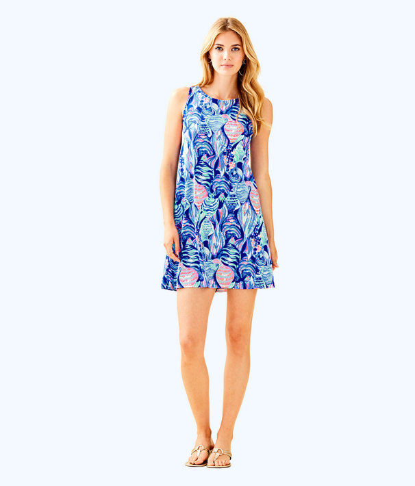 Kristen Dress, Twilight Blue Scale Up, large