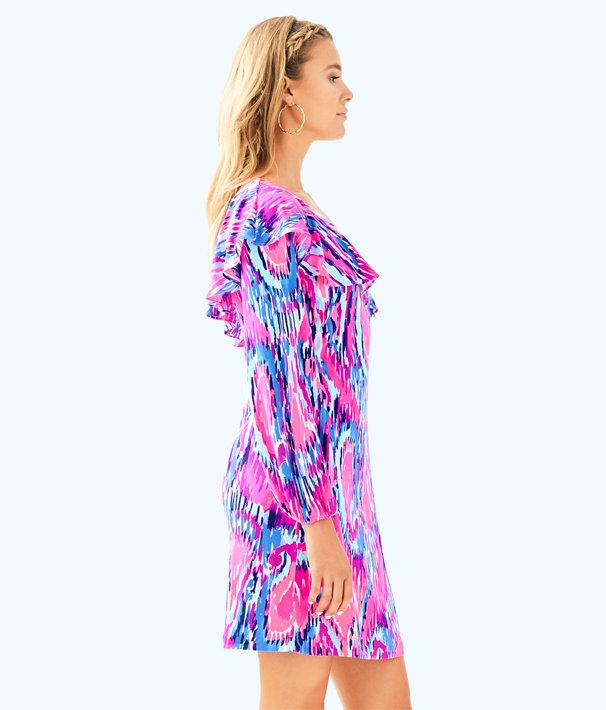 Amante Silk Jersey Dress, Multi Free Spirit, large
