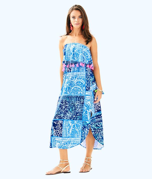 Meridian Midi Dress, Deep Indigo Leied Back, large