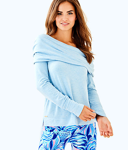 Belinda Pullover, Heathered Chambray Tint, large