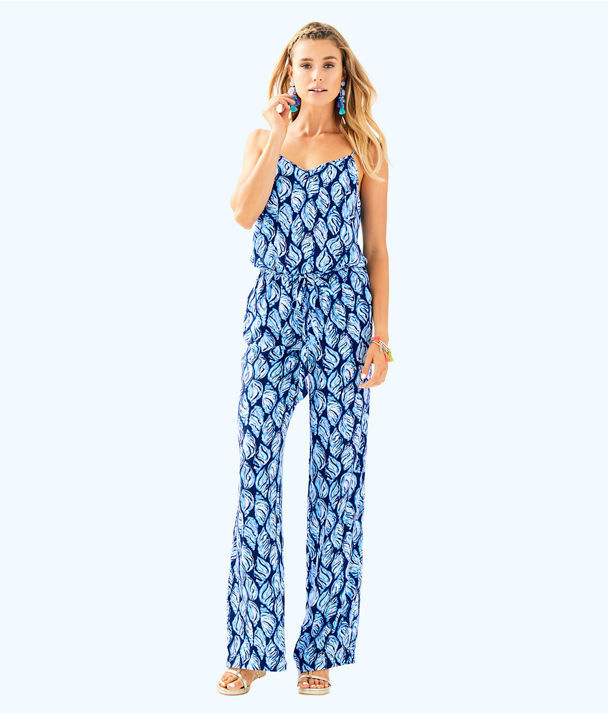 Dusk Jumpsuit, High Tide Navy Drop In Navy, large