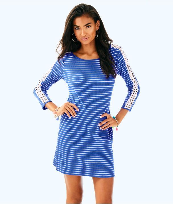 Marlowe Dress, Beckon Blue Breeze Stripe, large