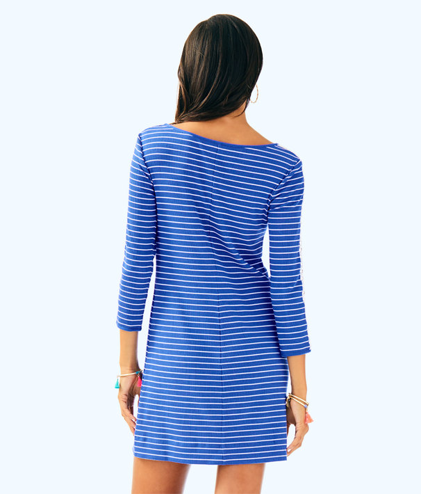 Marlowe Dress, Beckon Blue Breeze Stripe, large