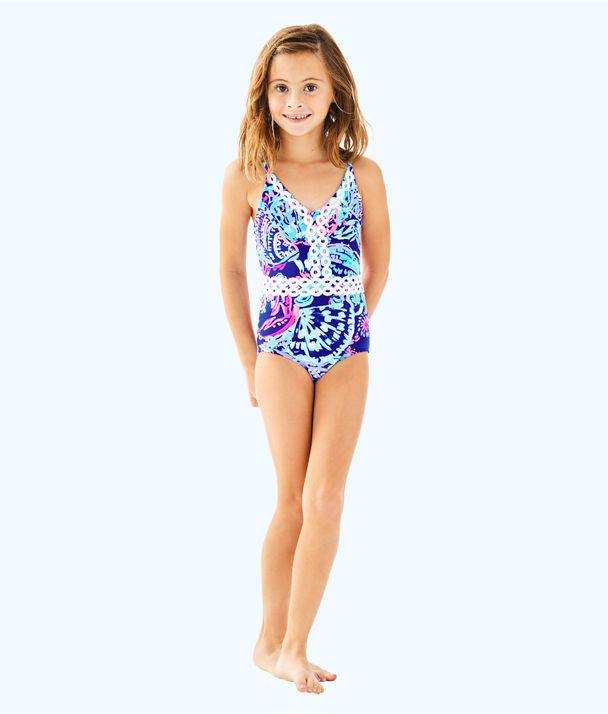 UPF 50+ Girls Mals Swimsuit, Twilight Blue Gypsea Girl, large
