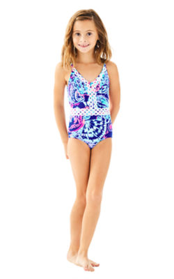 UPF 50+ Girls Mals Swimsuit, , large