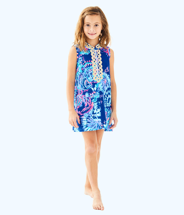 Girls Mini Jane Shift, Deep Indigo Gypsea Girl, large