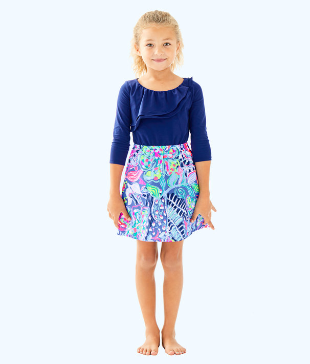 Girls Hazel Dress, Multi Fantasy Garden, large