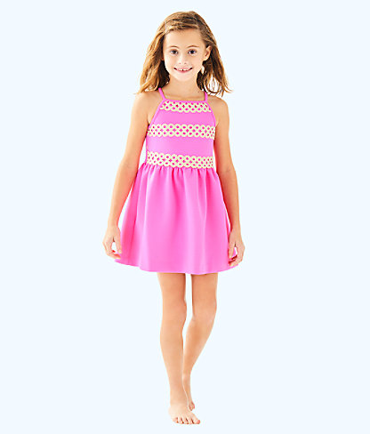 Girls Elize Dress, Raz Berry, large