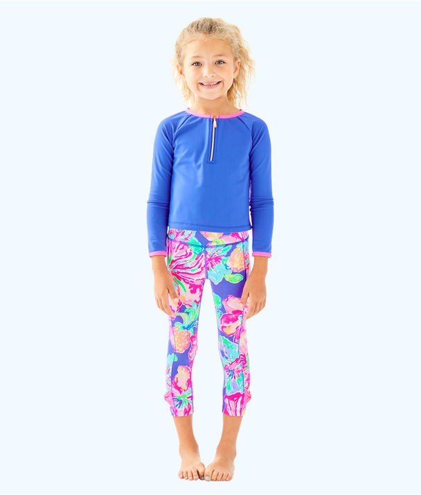 Girls Melody Legging, Beckon Blue Jungle Utopia Small, large
