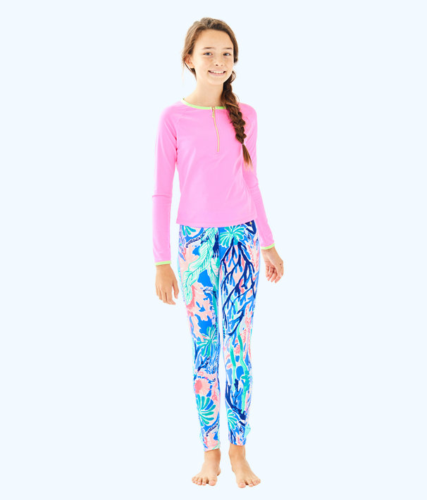 Girls Melody Legging, Multi Jet Stream, large