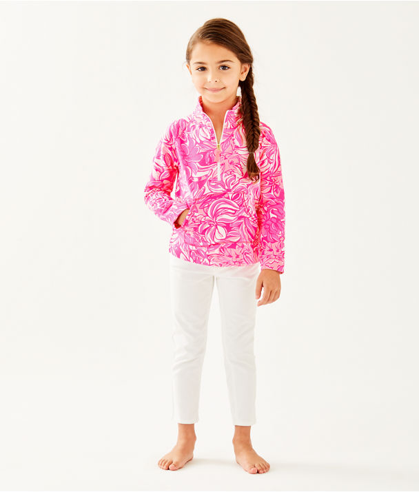 Girls Little Skipper Popover, Bougainvillea Pink Pawsitive Cattitude, large