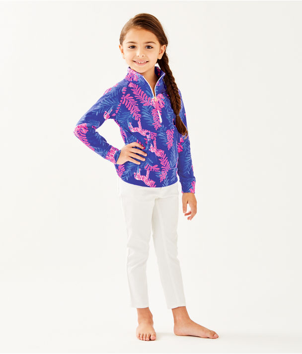 Girls Little Skipper Popover, Royal Purple Dazzle, large