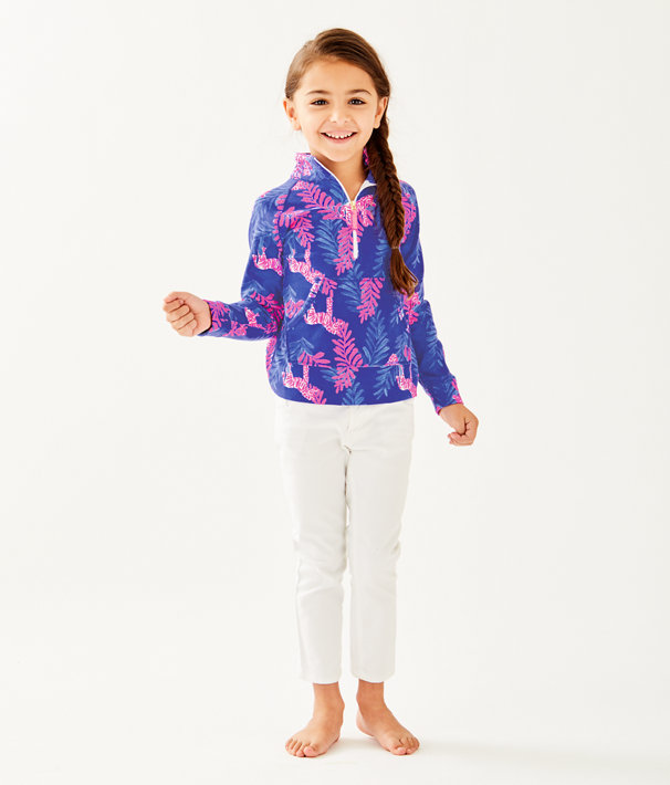Girls Little Skipper Popover, Royal Purple Dazzle, large