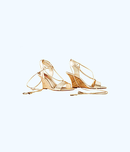 Aria Wedge, Gold Metallic, large