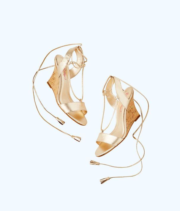 Aria Wedge, Gold Metallic, large