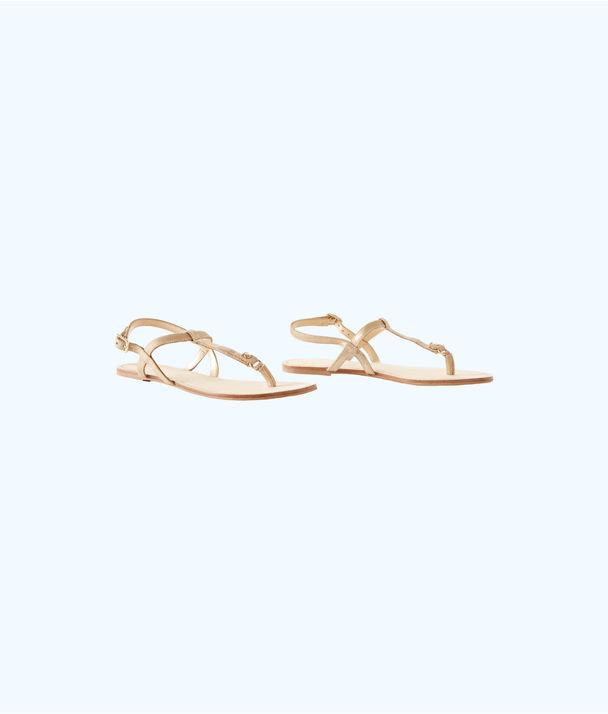 Interchangable Island Sandal, Gold Metallic, large
