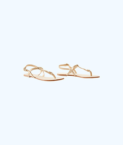 Interchangable Island Sandal, Gold Metallic, large