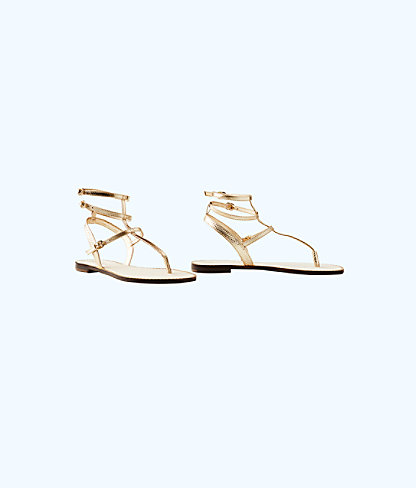 Gemma Sandal, Gold Metallic, large