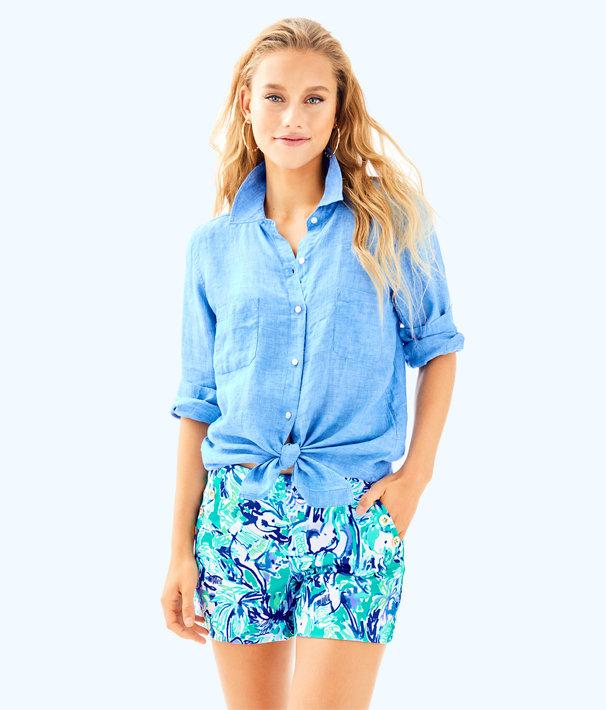 "4"" Marina Knit Short, Tropical Turquoise Elephant Appeal, large"