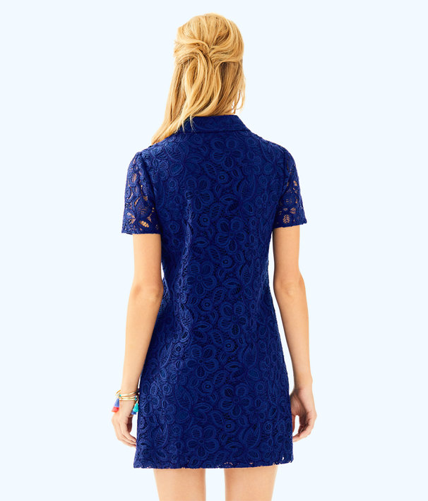 Nelle Dress, High Tide Navy Pop Floral Lace, large