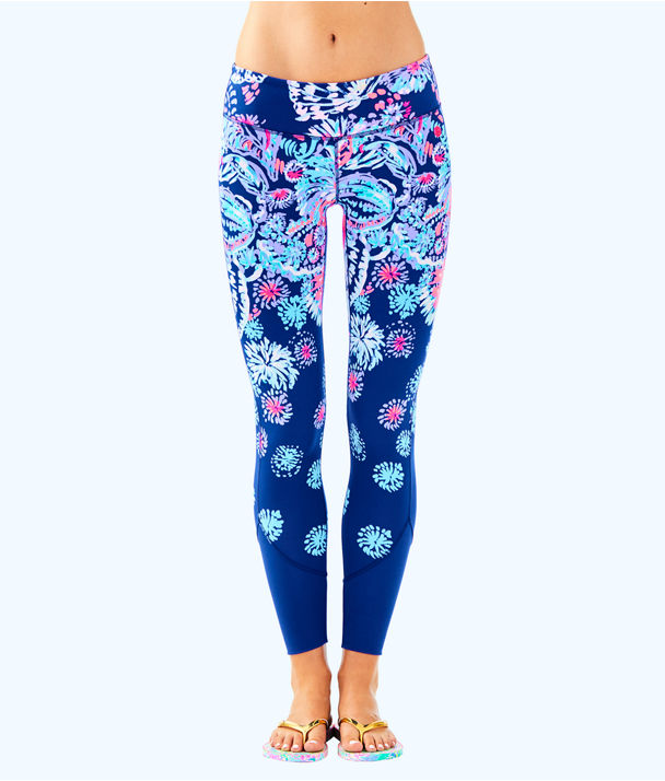 "UPF 50+ Luxletic 26"" Maralyn Weekender Legging, Deep Indigo Gypsea Girl Engineered Luxletic, large"